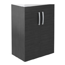 Brooklyn 600mm Black Floor Standing Vanity Cabinet (excluding Basin) Medium Image