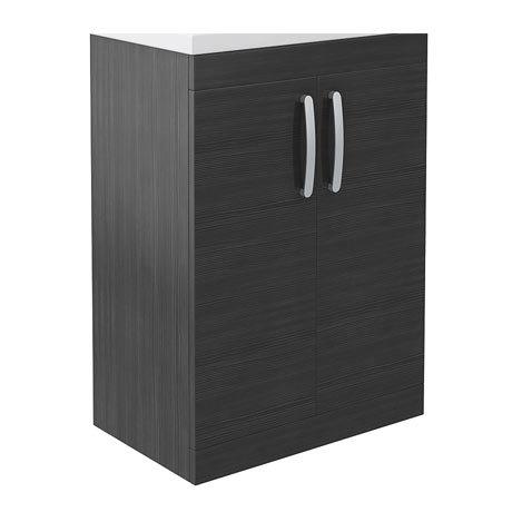 Brooklyn 600mm Black Floor Standing Vanity Cabinet (excluding Basin)