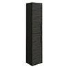 Brooklyn Black Wall Hung Tall Storage Cabinet with Matt Black Handles profile small image view 1
