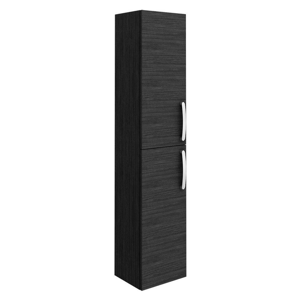 Brooklyn Wall Hung 2 Door Tall Storage Cabinet - Hacienda Black