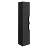 Brooklyn Wall Hung 2 Door Tall Storage Cabinet - Hacienda Black profile small image view 1