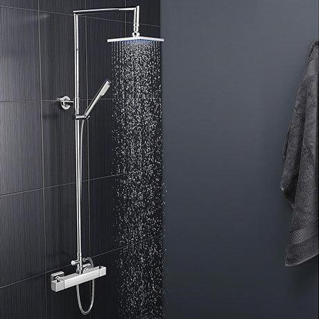 Moda Square Thermostatic Shower with Tiamo Rigid Riser Kit