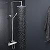 Moda Square Thermostatic Shower with Tiamo Rigid Riser Kit profile small image view 1