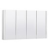 Turin White Minimalist 4 Door Mirror Cabinet - W1200 x D110mm Medium Image