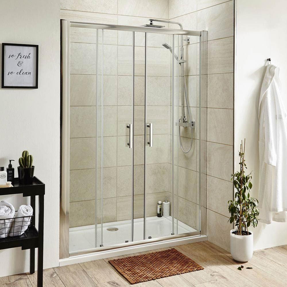 Turin 1400mm Double Sliding 8mm Easy Fit Shower Door