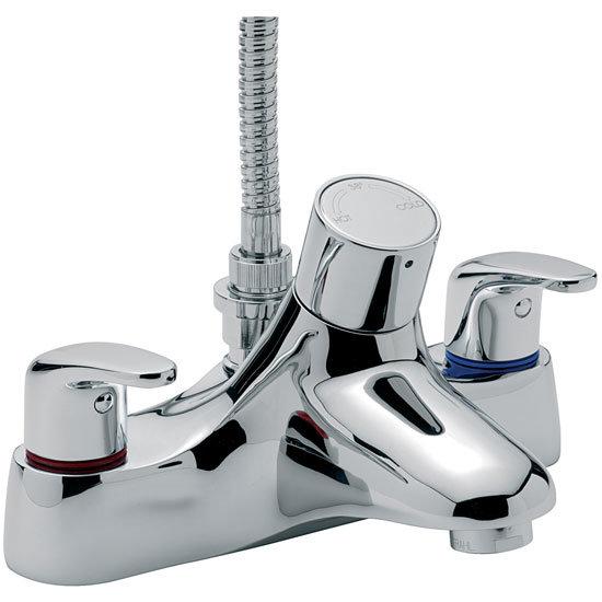 Tre Mercati - Modena Thermostatic Flat Deck Bath/Shower Mixer - Chrome - 95057 Large Image