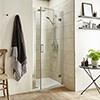 Turin 8mm Hinged Shower Door profile small image view 1