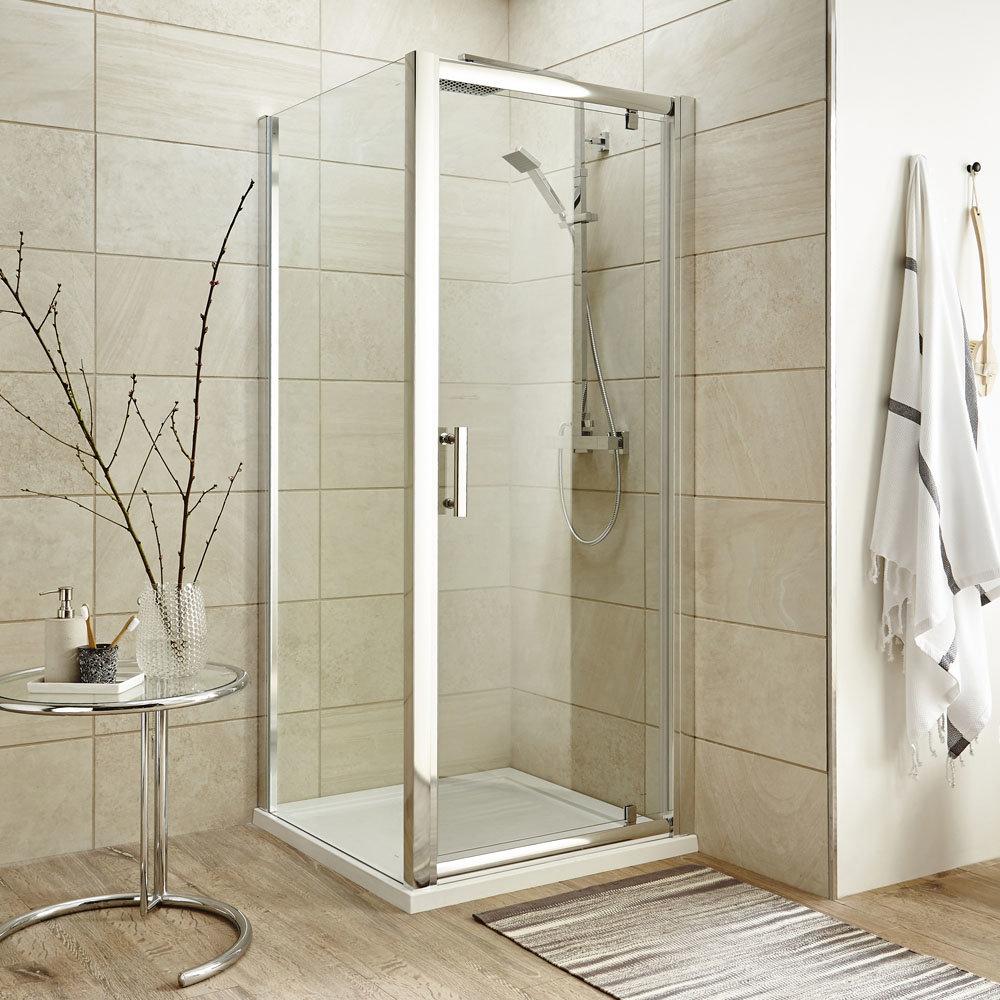 Turin 8mm Square Pivot Door Shower Enclosure - Easy Fit