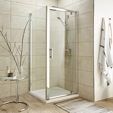 Turin 8mm Square Pivot Door Shower Enclosure - Easy Fit