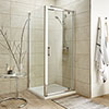 Turin 8mm Square Pivot Door Shower Enclosure - Easy Fit profile small image view 1