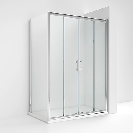 Turin 1400 x 700mm Double Sliding Door Shower Enclosure without Tray