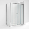 Turin 1400 x 700mm Double Sliding Door Shower Enclosure without Tray profile small image view 1