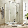 Turin 8mm Rectangular Sliding Door Shower Enclosure - Easy Fit profile small image view 1