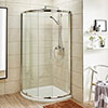Turin 860x860mm Single Entry Quadrant 8mm Easy Fit Shower Enclosure profile small image view 1