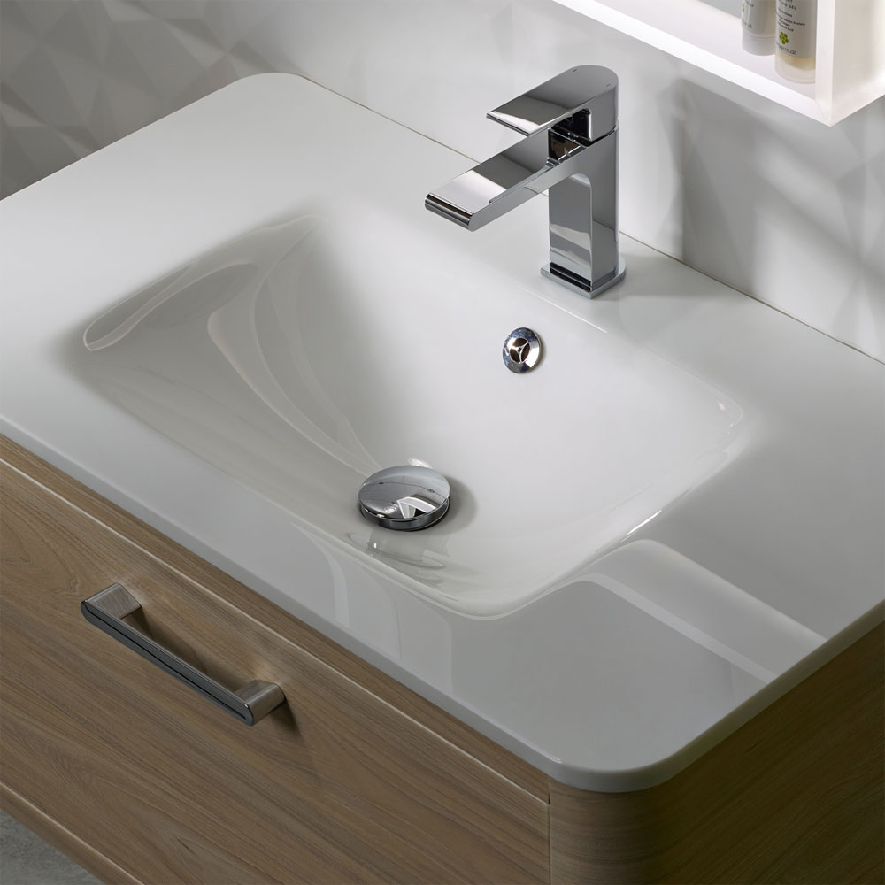 Roper Rhodes Moment 800mm Glass Ceramic Basin - MOM800CG Large Image