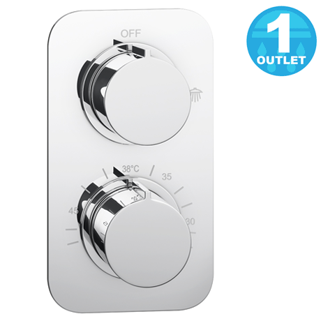 Montreal Thermostatic Single Function Concealed Shower Valve