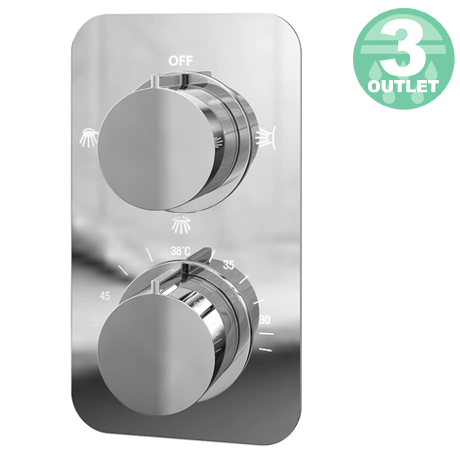 Montreal Thermostatic Triple Function Concealed Shower Valve