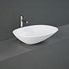 RAK Morning 540 x 380mm 0TH Oval Counter Top Basin - MORCT5400AWHA profile small image view 1