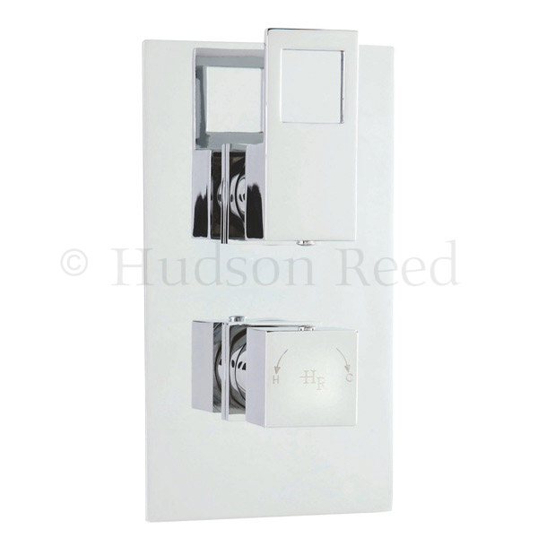 Hudson Reed Motif Twin Concealed Thermostatic Shower Valve - Chrome - MOT3210 Large Image