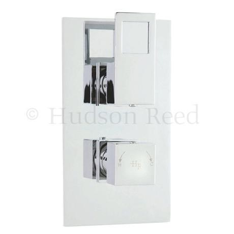 Hudson Reed Motif Twin Concealed Thermostatic Shower Valve - Chrome - MOT3210