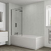 Multipanel Classic Frost White Bathroom Wall Panel profile small image view 1