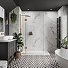 Multipanel Linda Barker Calacatta Marble Bathroom Wall Panel profile small image view 1