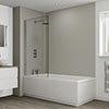 Multipanel Heritage Sarum Twill Plex Bathroom Wall Panel profile small image view 1