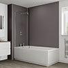 Multipanel Heritage Graphite Twill Plex Bathroom Wall Panel profile small image view 1