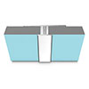 Multipanel Mid Joint Profile (Type D) - Polished Silver profile small image view 1