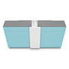 Multipanel Mid Joint Profile (Type D) - White profile small image view 1