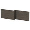 Brooklyn 1700 Grey Avola L-Shaped Front Bath Panel profile small image view 1