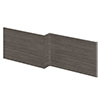 Brooklyn 1700 Grey Avola L-Shaped Front Bath Panel profile small image view 1