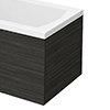 Brooklyn Black End Bath Panel for 1700mm L-Shaped Baths - MPD631 profile small image view 1