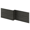 Brooklyn 1700 Black L-Shaped Front Bath Panel profile small image view 1