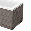 Brooklyn Grey Avola Wood Effect End Bath Panels - Various Sizes profile small image view 1