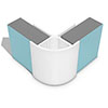 Multipanel External Corner Profile (Type B) - White profile small image view 1