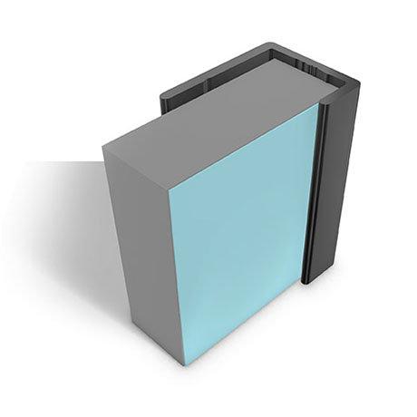 Multipanel End Cap Profile (Type C) - Black