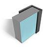Multipanel End Cap Profile (Type C) - Black profile small image view 1