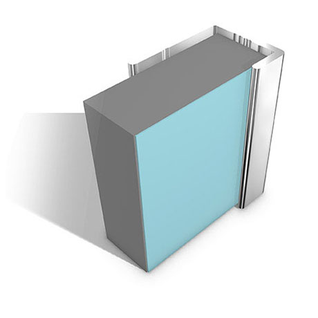 Multipanel End Cap Profile (Type C) - Polished Silver