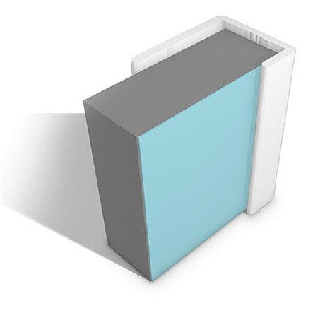 Multipanel End Cap Profile (Type C) - White
