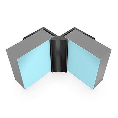 Multipanel Internal Corner Profile (Type A) - Black