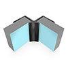 Multipanel Internal Corner Profile (Type A) - Black profile small image view 1