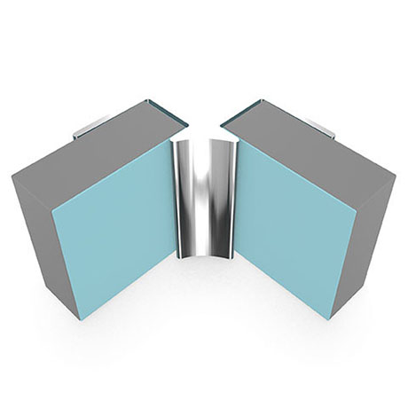 Multipanel Internal Corner Profile (Type A) - Polished Silver