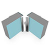 Multipanel Internal Corner Profile (Type A) - Polished Silver profile small image view 1