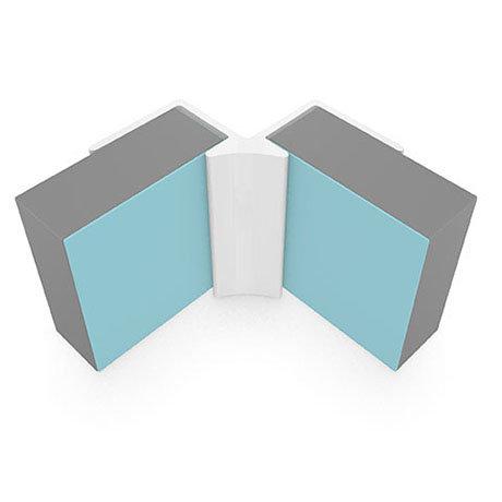 Multipanel Internal Corner Profile (Type A) - White