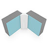Multipanel Internal Corner Profile (Type A) - White profile small image view 1