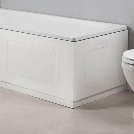 Tavistock Meridian 750mm Routed End Bath Panel - Gloss White Profile Large Image