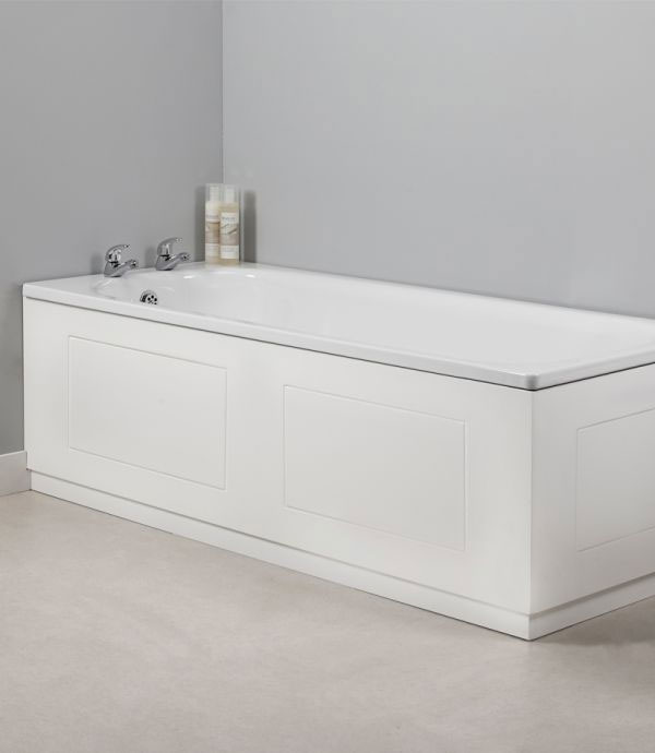 Tavistock Meridian 1700mm Routed Front Bath Panel - Gloss White Profile Large Image