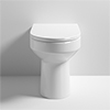 Milton Modern Round Comfort Height BTW Pan + Soft Close Seat profile small image view 1