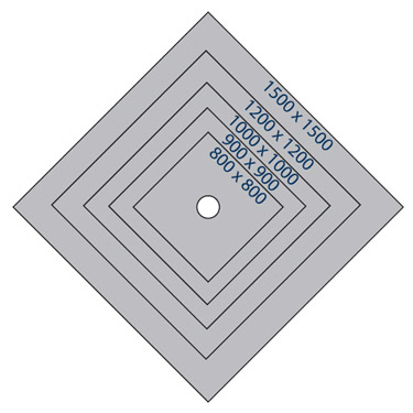 Marmox Wet Room Floor Tray - Centre Drain profile large image view 3